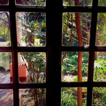 Garden through door, Stables Suite No. 1